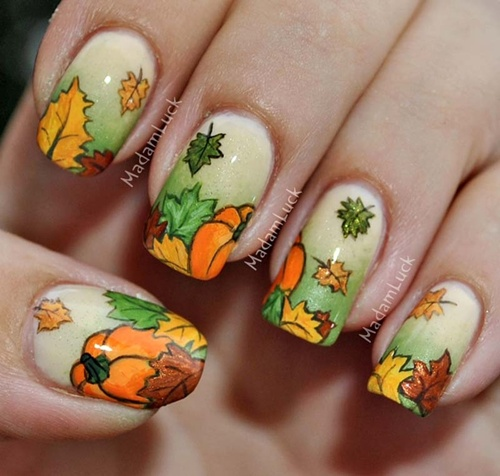 How To Do Autumn Leaves Nail Art (30 Examples