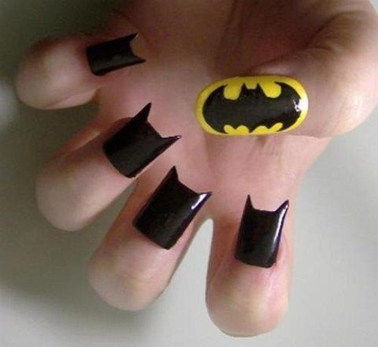 35 designs of batman nail art for batman fans bat man nail art 2 prinsesfo Gallery