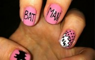 bat man nail art (22)