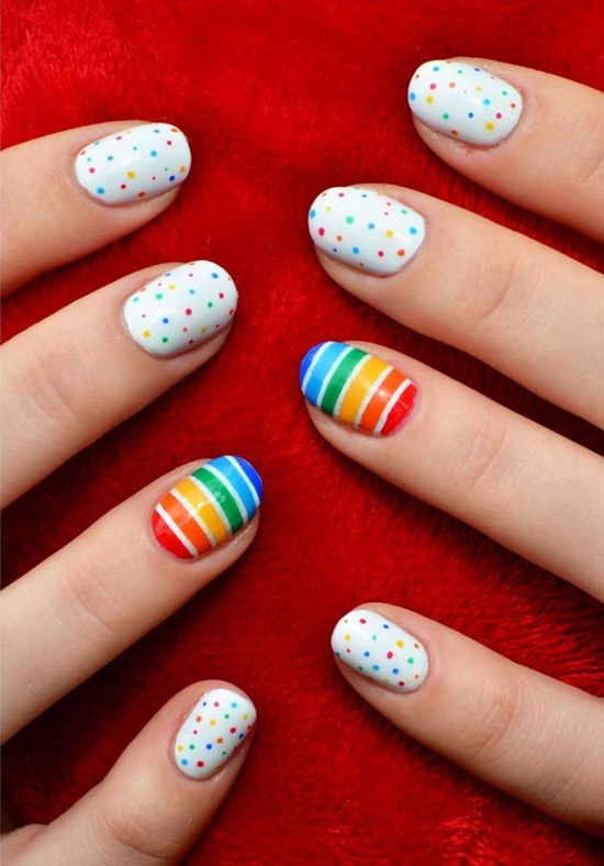 30 simple and easy nail art ideas easy nail art 2 prinsesfo Image collections