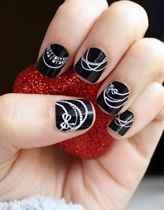 easy nail art (25) - 30 Simple And Easy Nail Art Ideas