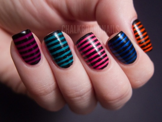 30 simple and easy nail art ideas easy nail art 27 prinsesfo Images