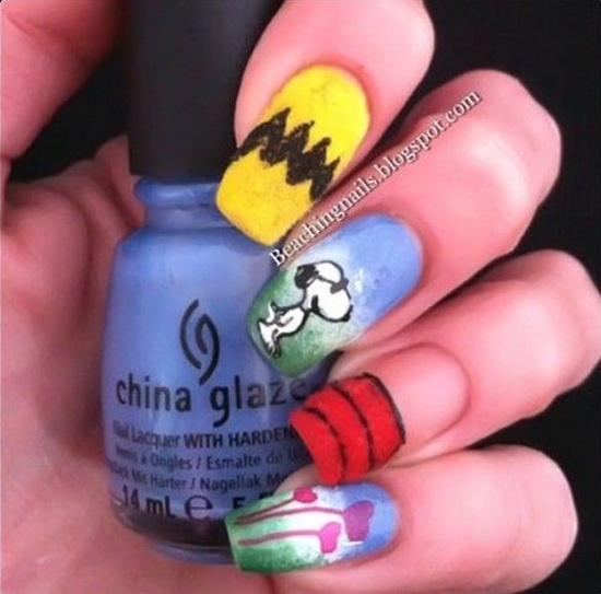 fun nail art (5) - 30 Examples Of Funny Nail Art Designs