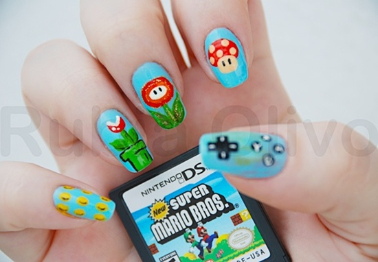 30 cool gaming nail art ideas for gaming fans so why not combine the two to come up with gaming nail art sounds great doesnt it once you get down to it you will realize that the possibilities in this prinsesfo Images