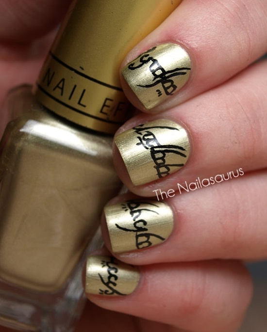 Lord of the Rings Nail Art. Don't forget to visit the other ladies&#x