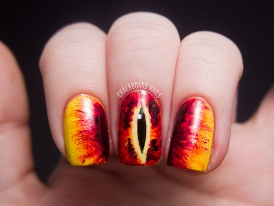 geeky nail art - 30 Examples Of Geeky Nail Art Designs