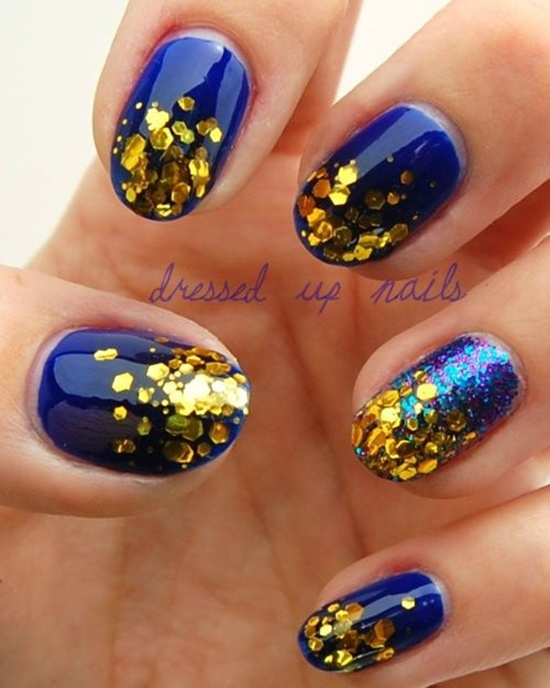 golden gliter nail art (22)