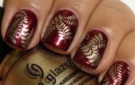 golden gliter nail art (7)