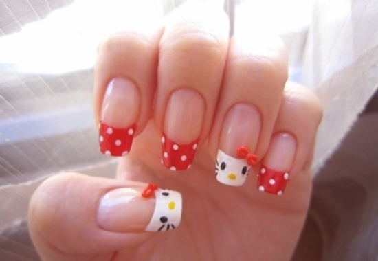 30 cool hello kitty nail art ideas kitty nail art 1 prinsesfo Gallery