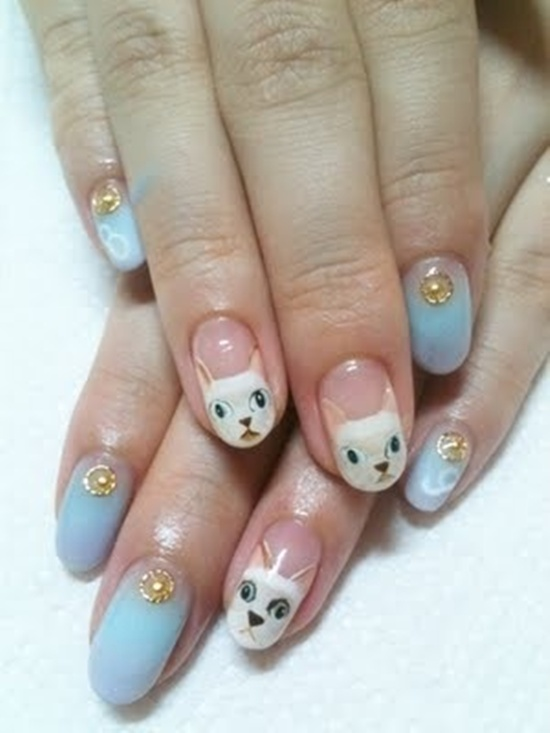 30 cool hello kitty nail art ideas kitty nail art 2 prinsesfo Gallery