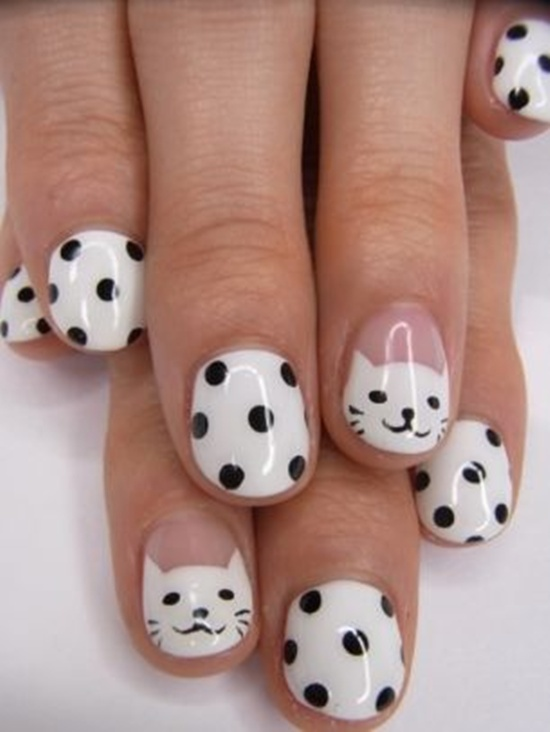 30 cool hello kitty nail art ideas kitty nail art 3 prinsesfo Images