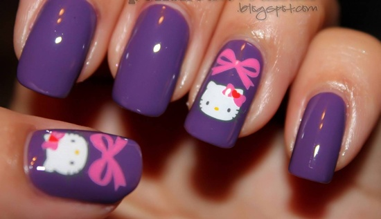 Gojek Info Hello Kitty Nails Designs
