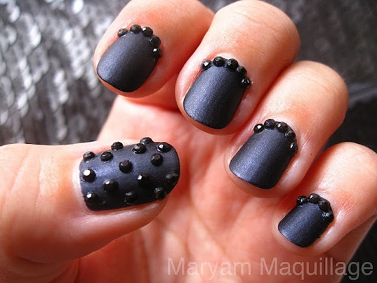 30 cool matte nail art designs matte nail art 1 prinsesfo Image collections