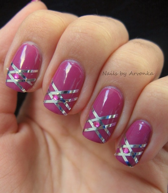 There is some ideas for pink nail art:
