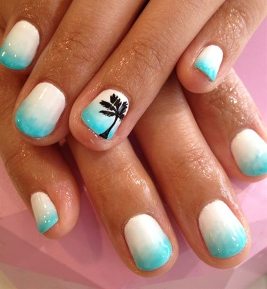 short nail art (2) - 101 Beautiful Short Nail Art Ideas