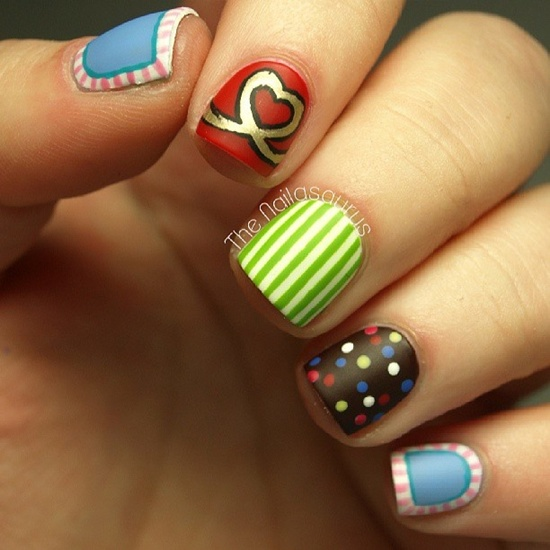 short nail art 3 - Nail Polish Design Ideas