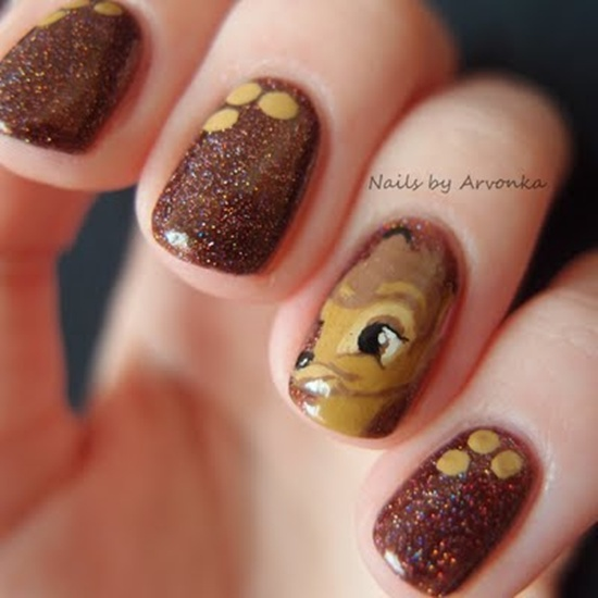 short nail art 32 - Fingernails Designs Idea