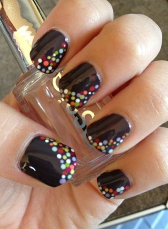 Nail Design Ideas For Short Nails negative nails dont always have to be a geometric design start with a Short Nail Art 5