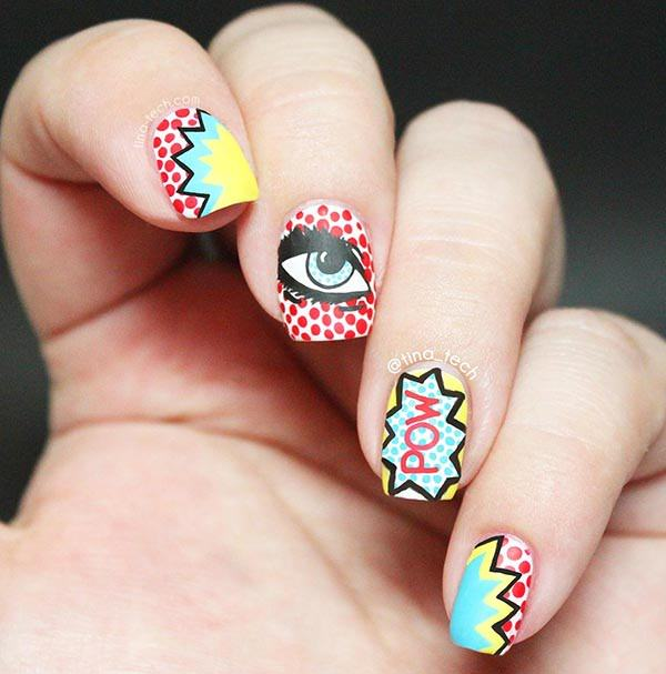 101 beautiful short nail art ideas short nails 24 prinsesfo Choice Image