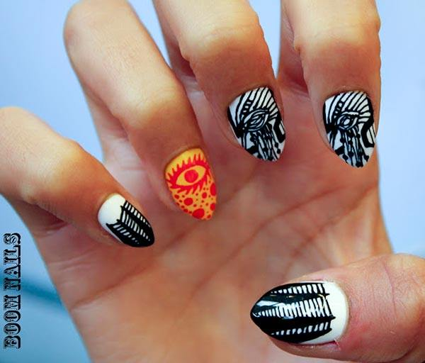 101 beautiful short nail art ideas when it comes to intricate nail art it doesnt get much cooler than this such fine lines are very difficult and take the work of a professional prinsesfo Gallery