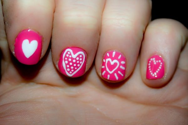 101 beautiful short nail art ideas four great examples of how you can pull of some cool love heart nail designs short nails 60 prinsesfo Gallery