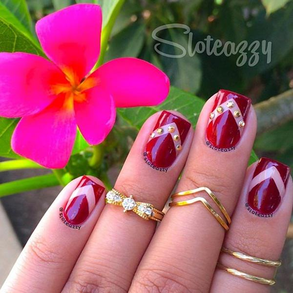 easy at home nail designs for short nails. short nails 73 101 Beautiful Short Nail Art Ideas