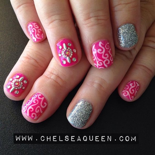 short-nails-74 - 101 Beautiful Short Nail Art Ideas