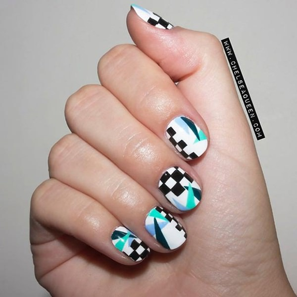 Nail Designs Ideas multi color cute nail designs art Short Nails 75
