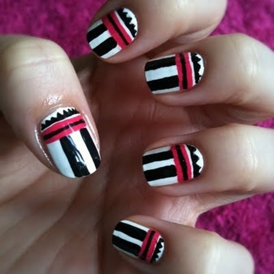 30 trendy tribal nail art ideas tribal nail art 1 prinsesfo Image collections