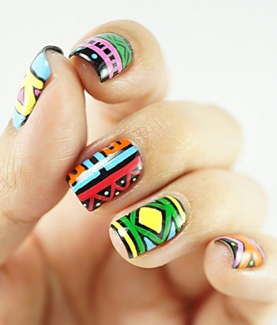 Tribal Nail Art: 30 Trendy Tribal Nail Art Ideas
