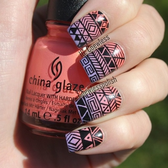 30 trendy tribal nail art ideas tribal nail art 21 prinsesfo Image collections