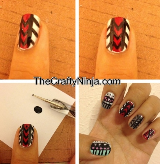 30 trendy tribal nail art ideas tribal nail art prinsesfo Image collections