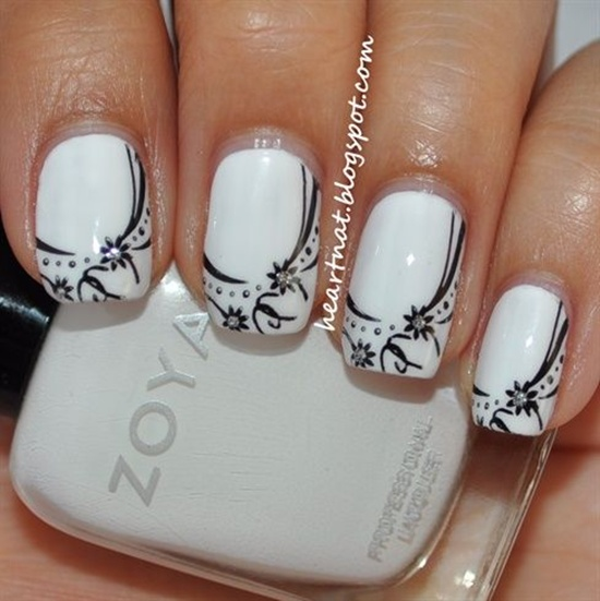 There Are Various Additional Elements That You Can Try In Wedding Nail Art For Enhancing Your Sweet And Nice Look The Best Option Is Use Of Beads Or