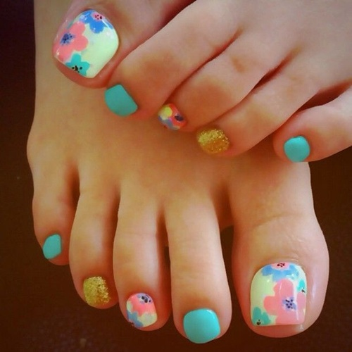 25 cute and adorable toenail art designs cute toe nail art 22 prinsesfo Images