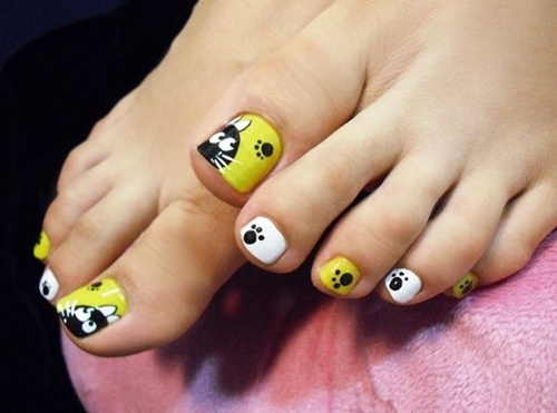 cute toe nail art (4) - 25 Cute And Adorable Toenail Art Designs