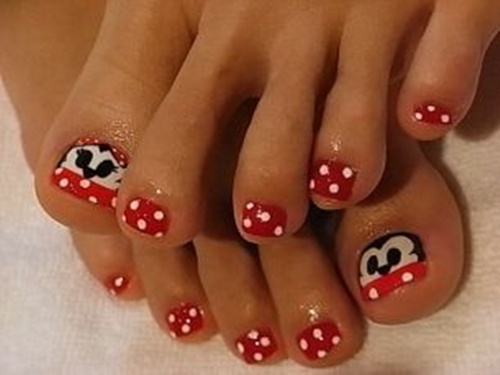 25 cute and adorable toenail art designs cute toe nail art 5 prinsesfo Images