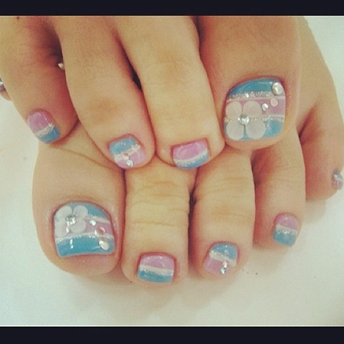 Adorable Nail Art: 25 Cute And Adorable Toenail Art Designs