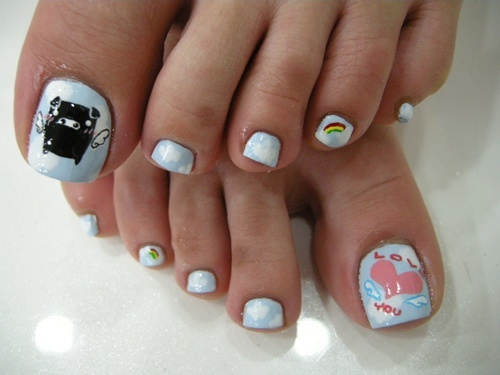 25 cute and adorable toenail art designs cute toe nail art prinsesfo Image collections