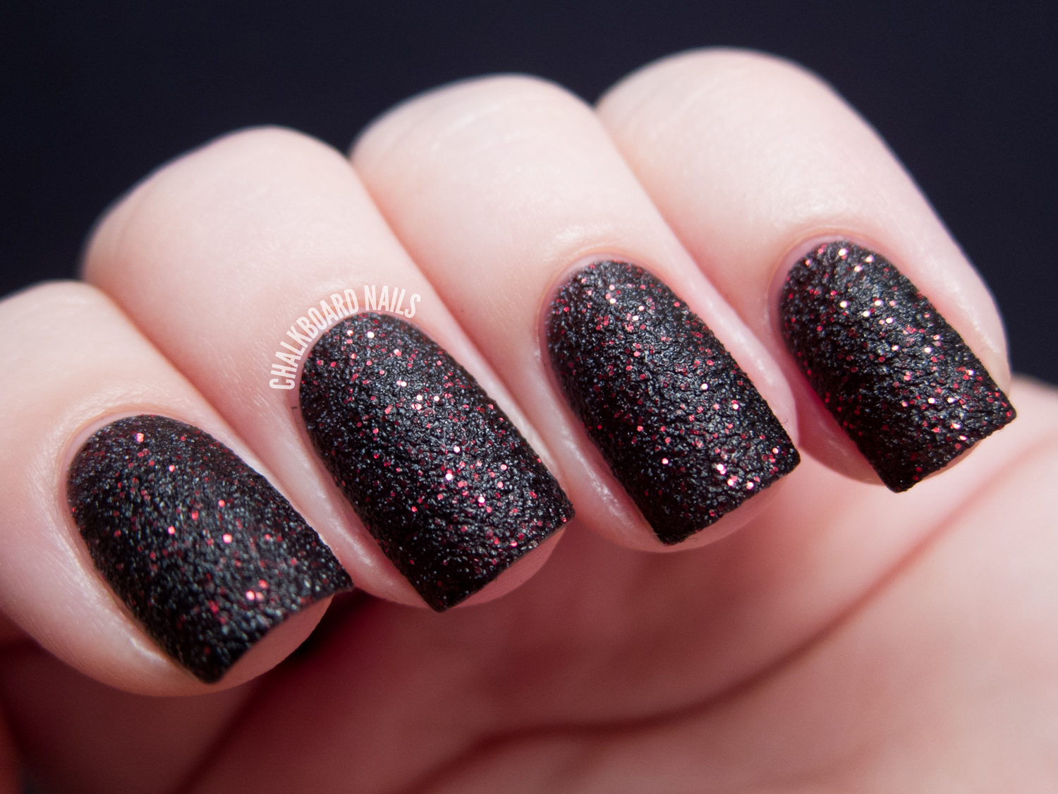general-black-gothic-nail-design-ideas-with-slightly- - 20 Glitter Nail Designs For The Everyday Glamazon