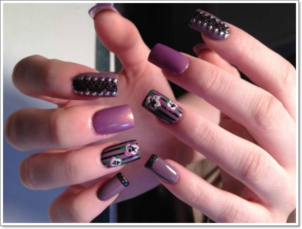 Nail-Designs-Tumblr-With-Basic-Color-Purple