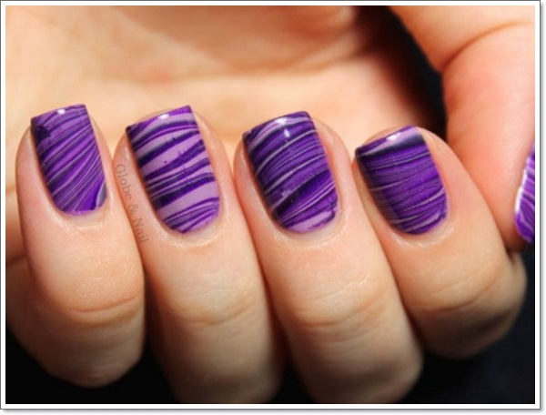 20 cool purple nail designs purple nail design idea prinsesfo Choice Image