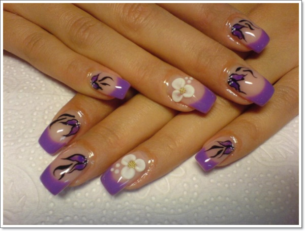 20 cool purple nail designs purple nail design ideas prinsesfo Choice Image