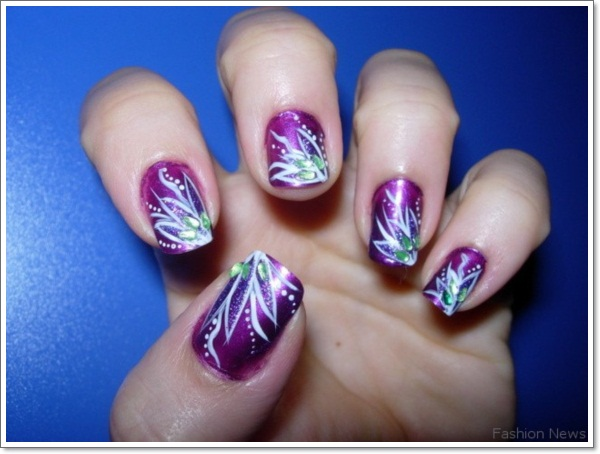 Purple Nail Designs 1