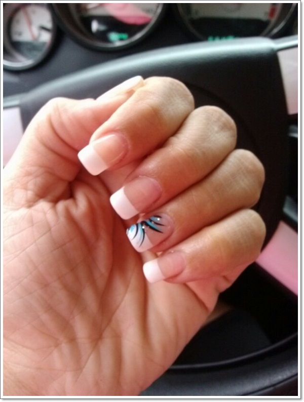 french tip nails 11 000e57c8b602d818e49e23894040a141  168d531cb4b7138b2c04caba6b842256 ... - 22 Awesome French Tip Nail Designs