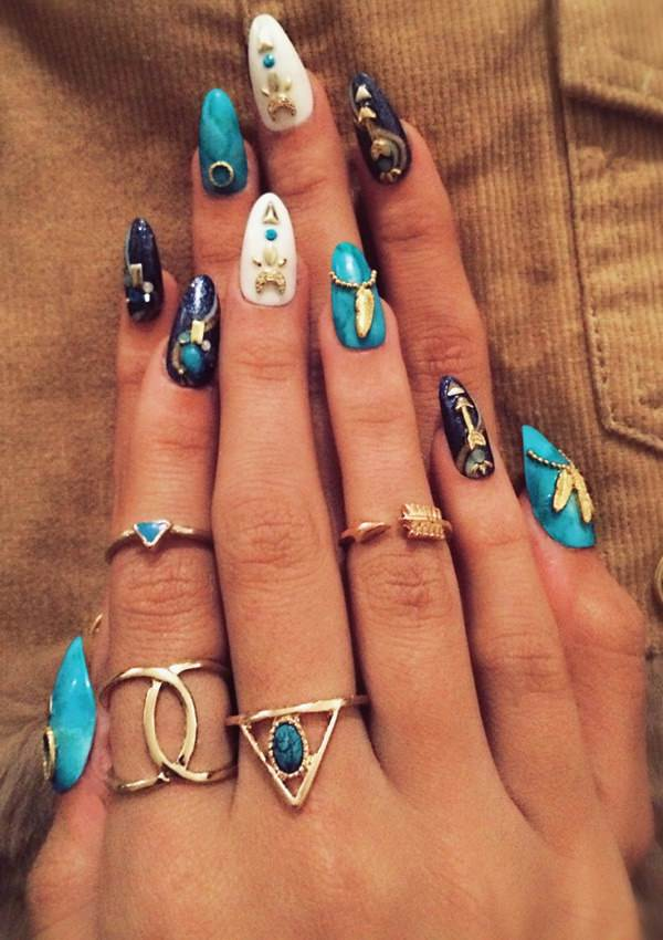 48 cool stiletto nails designs to try tips 19040516 stiletto nails prinsesfo Images