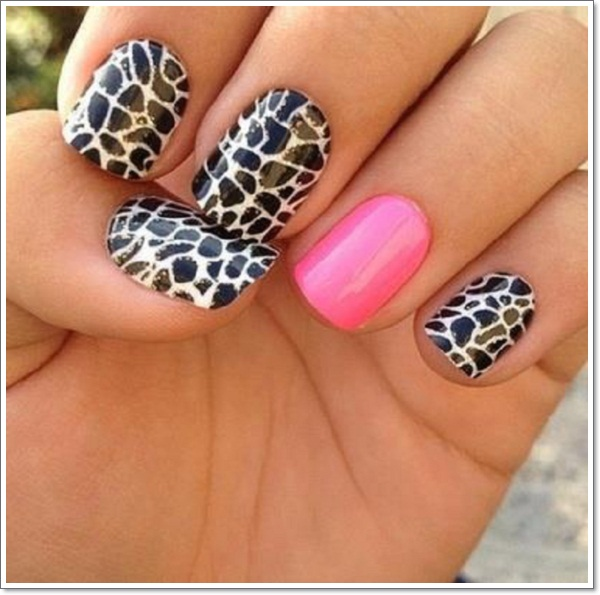 25 zebra print nails design ideas pink zebra nails 1 2014 zebra nail art designs prinsesfo Images