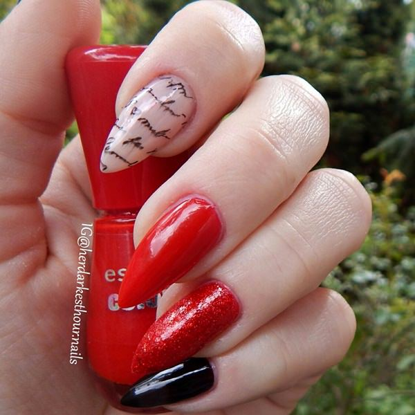 Cool Black And Red Nail Designs