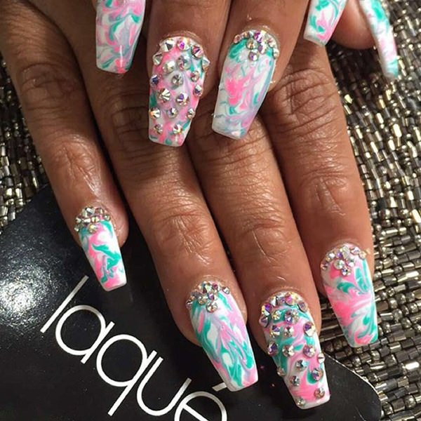 7040516-Stiletto-nails - 48 Cool Stiletto Nails Designs To Try + Tips