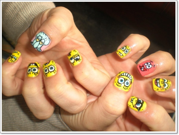 ... Cartoon Nail Art ... - Childhood Memories—17 Cartoon Nail Art Designs And How To