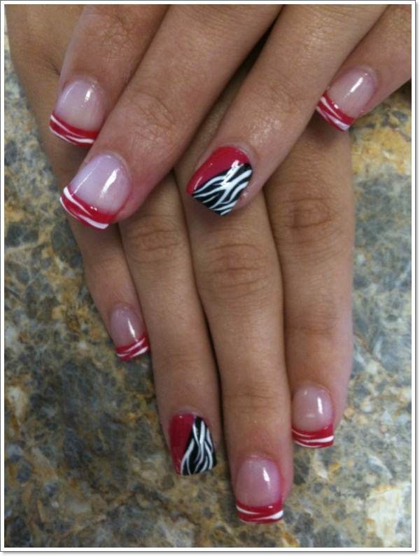25 zebra print nails design ideas cute zebra nail art 5 prinsesfo Image collections
